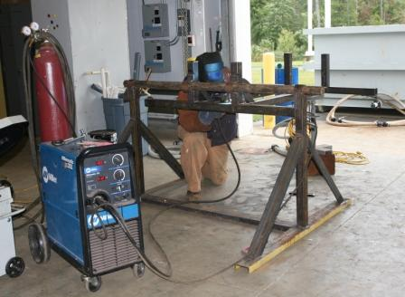 Carriage support welding