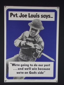 Pvt. Joe Louis Poster from World War II.