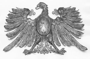 Detail shot, eagle decorative ornament from the SS Leviathan, courtesy of The Mariners' Museum.