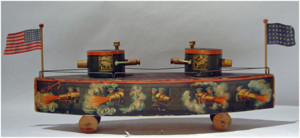 Double-Turreted Monitor Toy By W.S. Bliss Toy Company