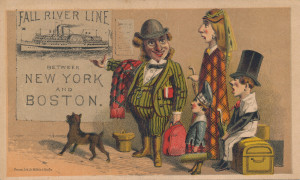 10 - Fall River Line ad card, between New York and Boston (1)