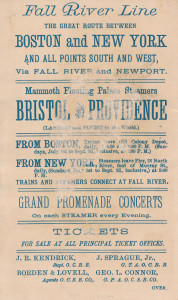 10 - Fall River Line ad card, between New York and Boston (2)