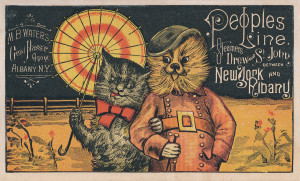 111 - People's Line trade card, 1880's (1)