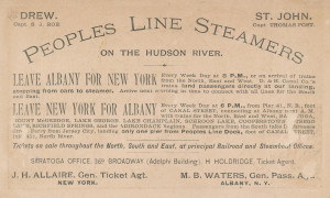111 - People's Line trade card, 1880's (2)