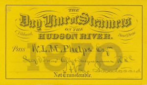 136 - Hudson River Day Line pass, 1870