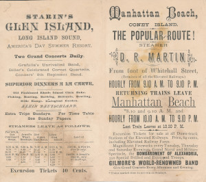 20 - Starin's Excursions brochure, 1880's (2)