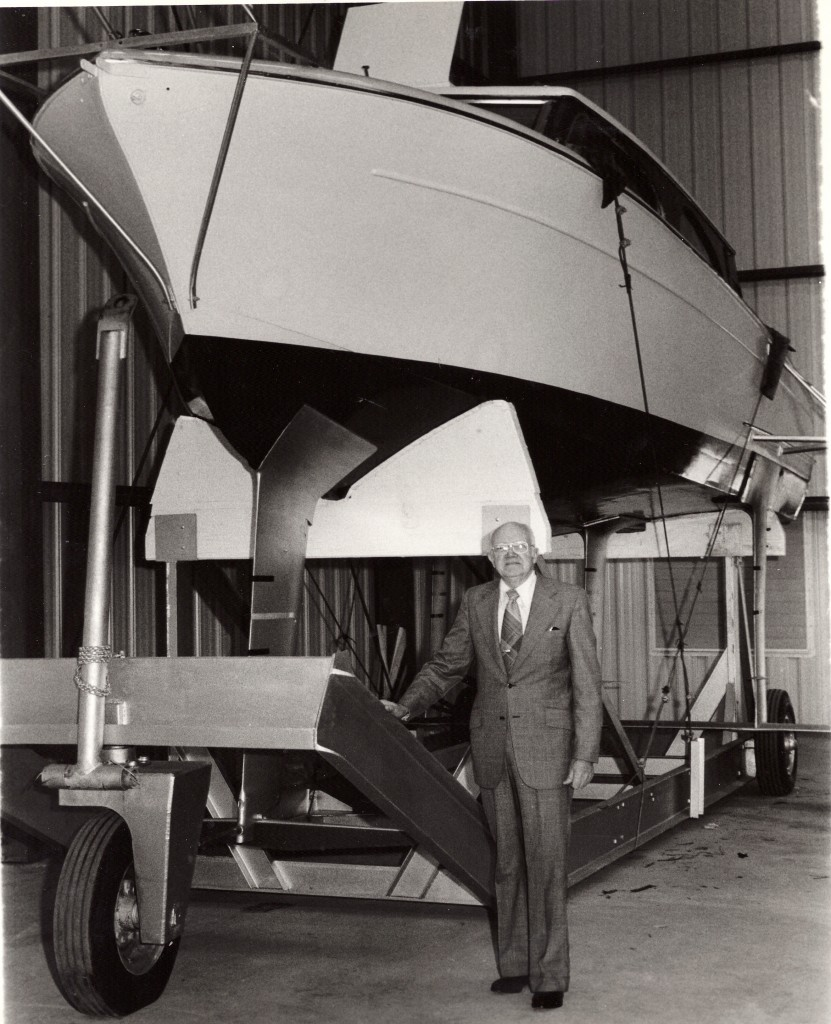 1975, Richard Browne with Sea Legs, he was project engineer for the testing of craft