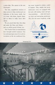 United States Lines, tourist class brochure, 1934 (2)