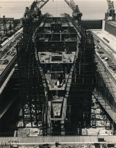 photograph, progress on hull 488, SS United States, 1950 (1)