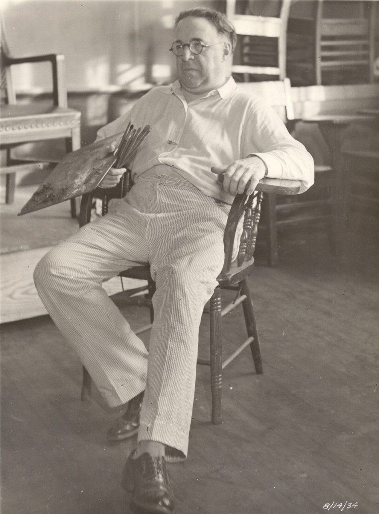 Aug 14, 1934 Lopez Mezquita, came to the Museum to paint a few portraits, was a member of the Hispanic Society, which AM Huntington founded