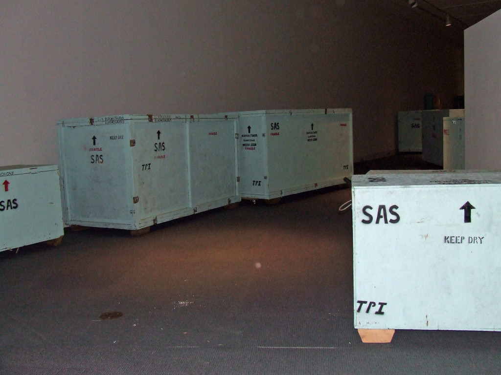 A few crates still waiting to be opened.