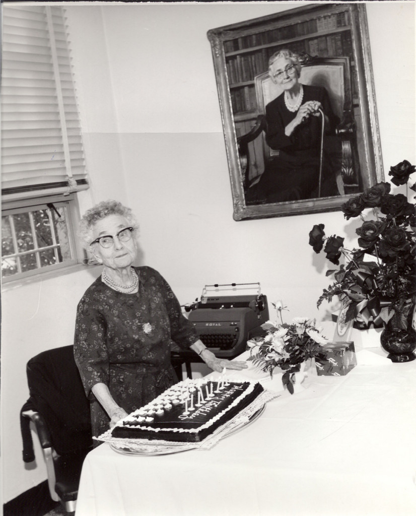 Feb 23, 1968, Miss Evans' 92nd birthday party
