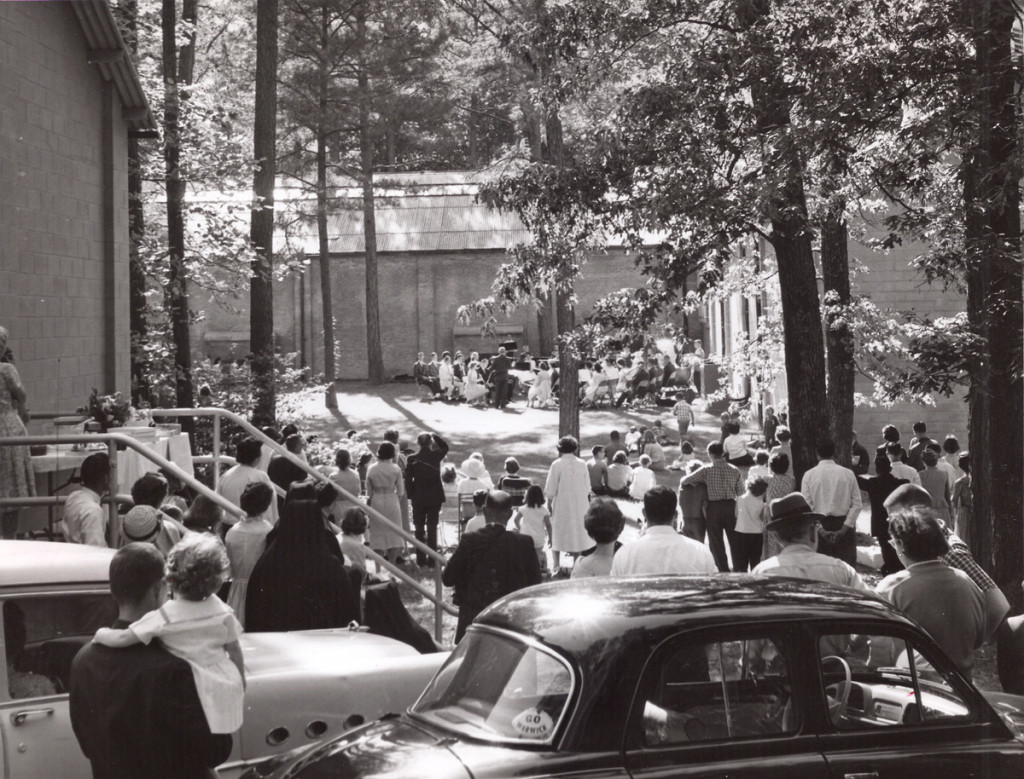 July 1963 Concert being held in the courtyard