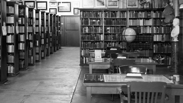 The Mariners' Museum Library, circa 1944. We have come a long way since then!