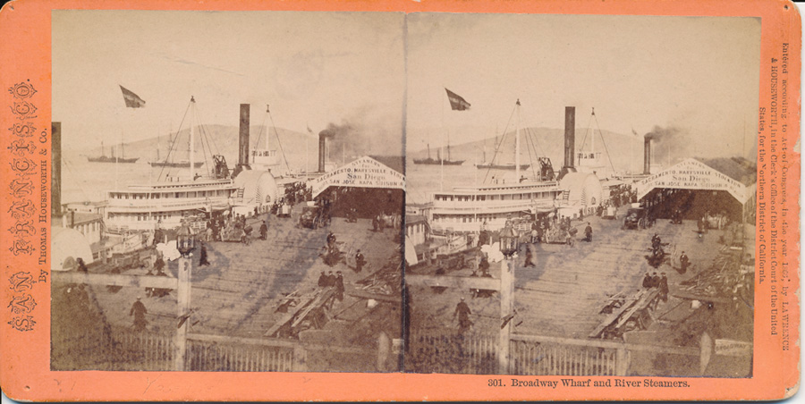 301.  Broadway Wharf & River Steamers (1)