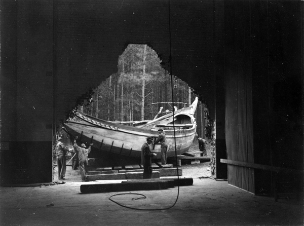 1940 Hole in Great Hall-A