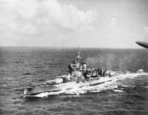 HMS Warspite in the Indian Ocean, Courtesy of Wikipedia.com