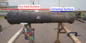 A comparison of before and after the Dry Ice Blasting