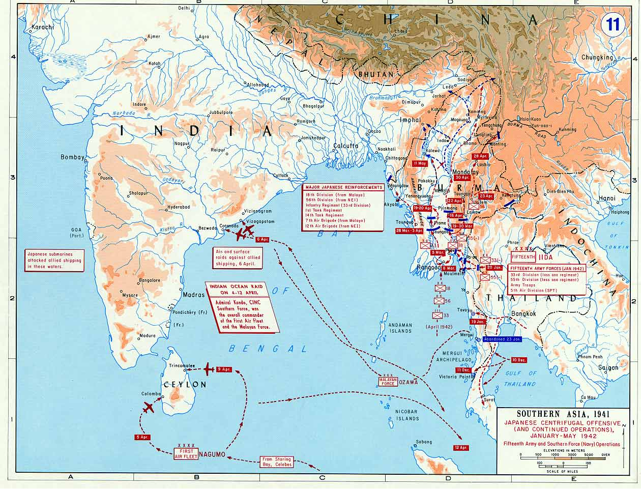 Japanese Offensive in Southern Asia