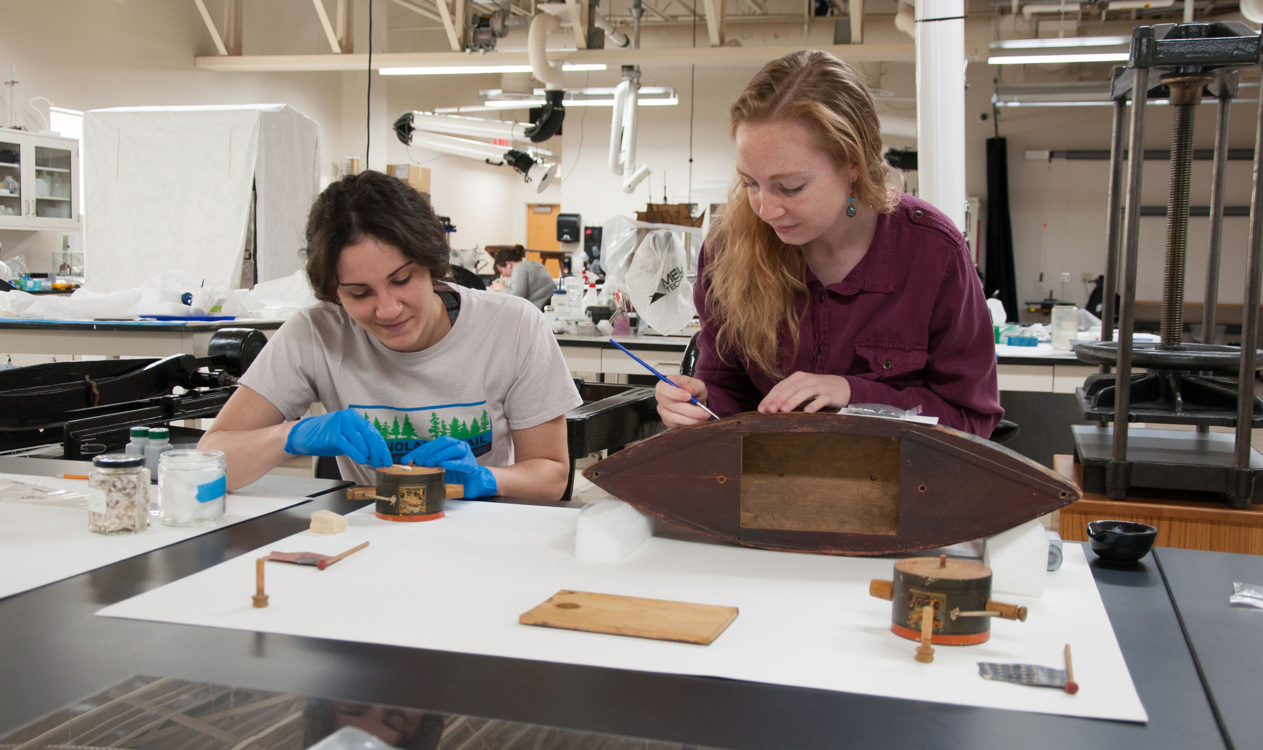 Joint paper and object conservation treatment for Toys Ahoy!