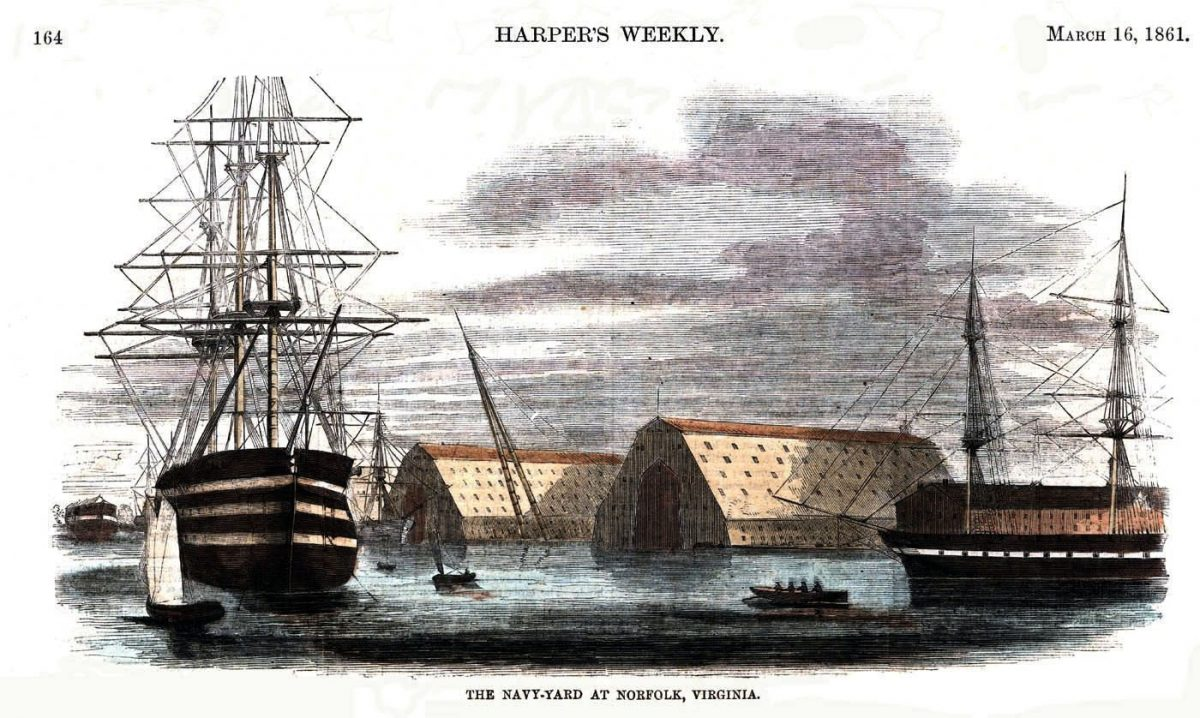 Gosport Navy Yard is Captured