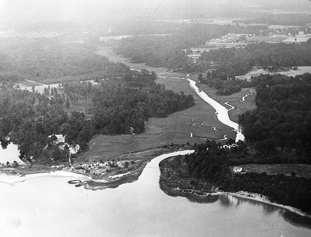 Aerial photograph from June of 1930.
