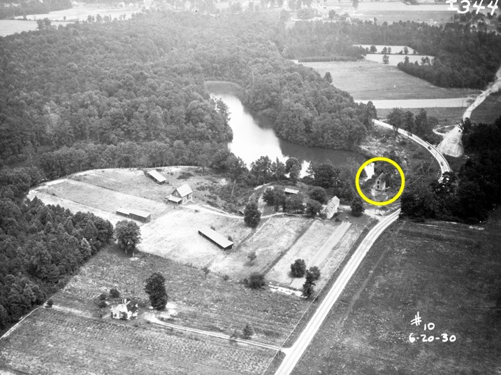 Causey's Mill and Pond in June of 1930