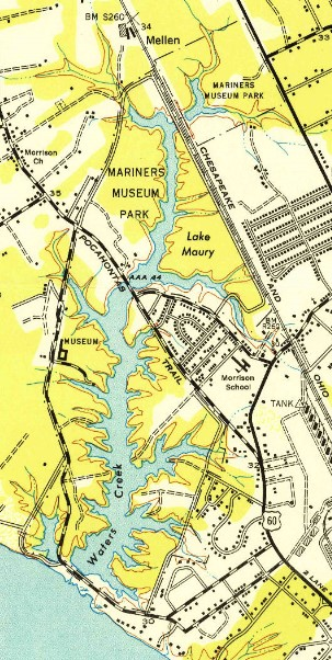 Map of the Park, 1944