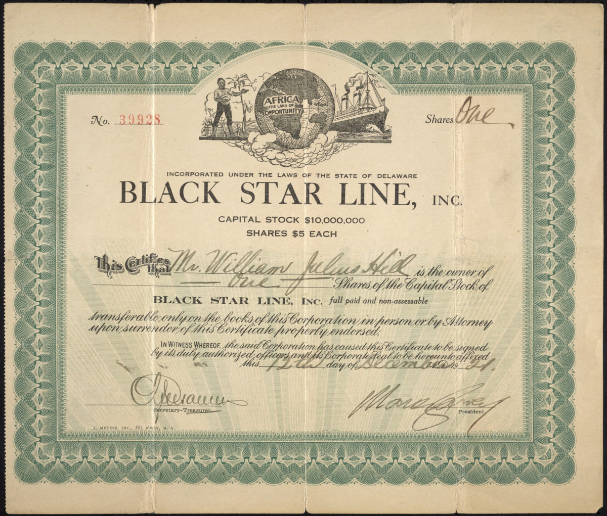 Marcus Garvey's Black Star Line