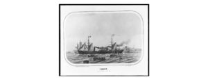 Photograph of illustration of the port side of Arago
